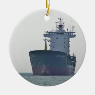 Cargo Ship Yusuf Cepnioglu Christmas Ornament