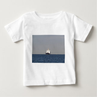 Cargo Ship Zefyros In The Distance Baby T-Shirt