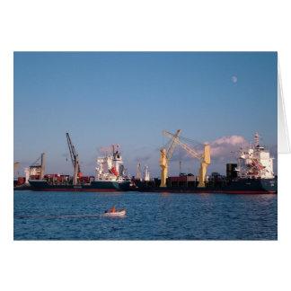 Cargo ships card
