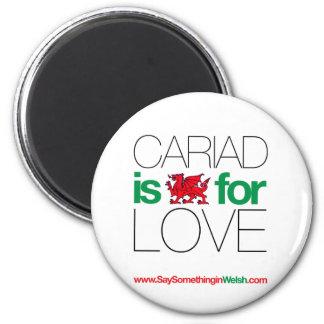 CARIAD 6 CM ROUND MAGNET