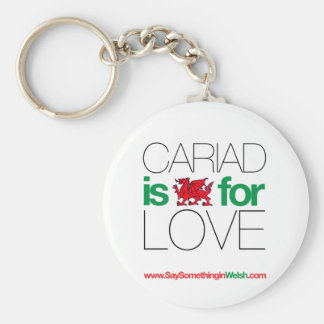 CARIAD BASIC ROUND BUTTON KEY RING