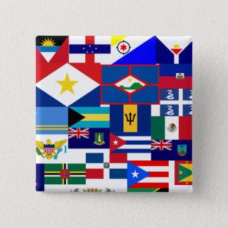 caribbean 15 cm square badge