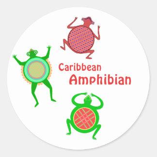Caribbean Amphibian Classic Round Sticker