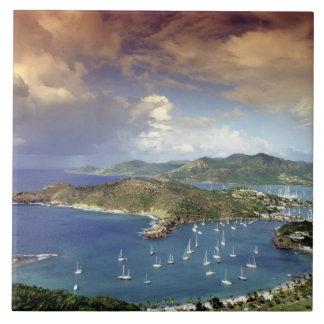 Caribbean, Antigua. Large Square Tile