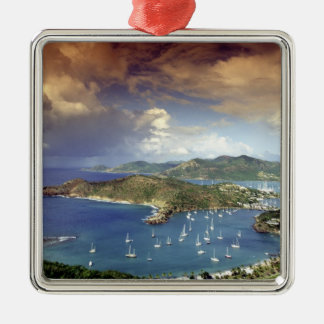 Caribbean, Antigua. Silver-Colored Square Decoration