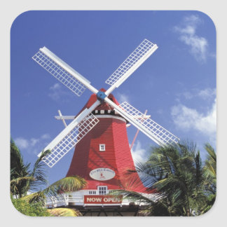 Caribbean, Aruba. Old Mill, converted into 'Mill Square Sticker