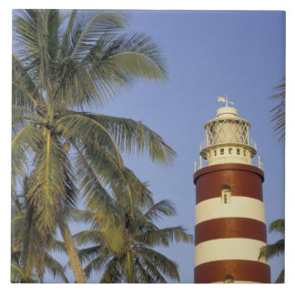 Caribbean, Bahamas, Abaco, Elbow Cay. Hopetown Large Square Tile