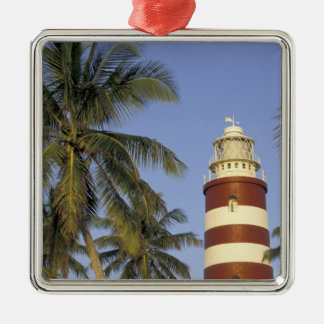 Caribbean, Bahamas, Abaco, Elbow Cay. Hopetown Silver-Colored Square Decoration