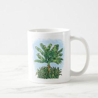 Caribbean banana tree coffee mug