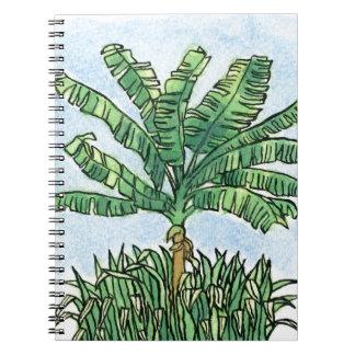 Caribbean banana tree note book