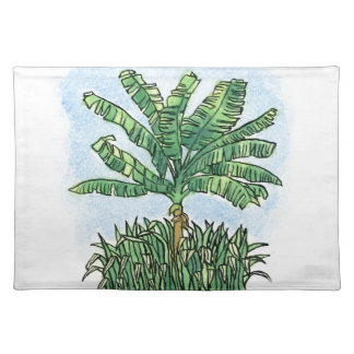 Caribbean banana tree placemat