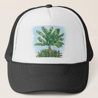 Caribbean banana tree trucker hat