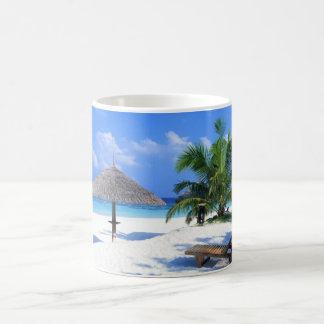 Caribbean Beach Basic White Mug