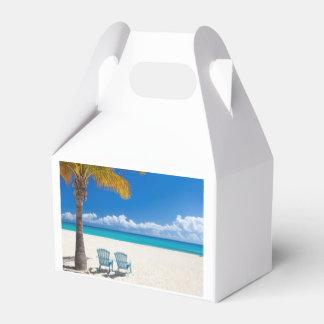 Caribbean beach favour box