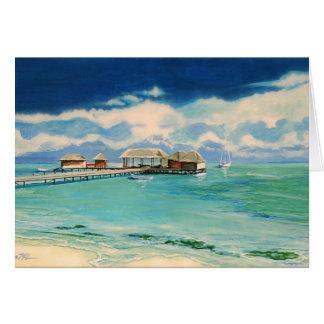 """""""Caribbean Beach"""" note card"""