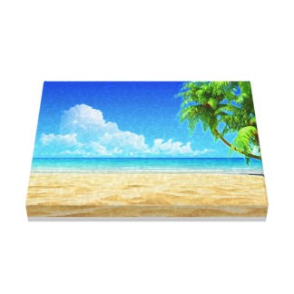 Caribbean Beach Painted Canvas