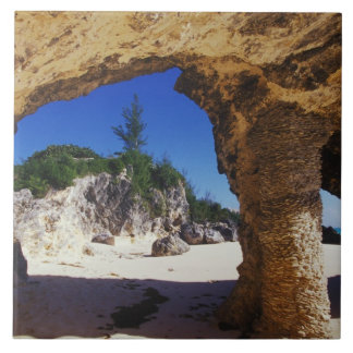 Caribbean, Bermuda, Tucker's Town. Natural Large Square Tile