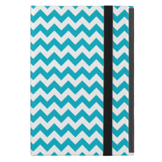 Caribbean Blue Chevron Cover For iPad Mini