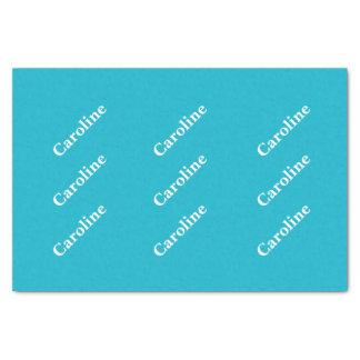 Caribbean Blue Customizable Tissue Paper