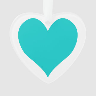 Caribbean Blue Cute Heart Shape