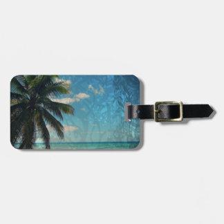 Caribbean Blue Luggage Tag