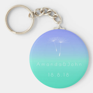 Caribbean Blue Ocean Pastel Save The Date Gift Key Ring