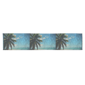 Caribbean Blue Short Table Runner