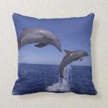Caribbean, Bottlenose dolphins Tursiops 7 Throw Cushion