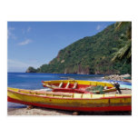 Caribbean, BWI, St. Lucia, Sailboats, Soufriere. Postcard