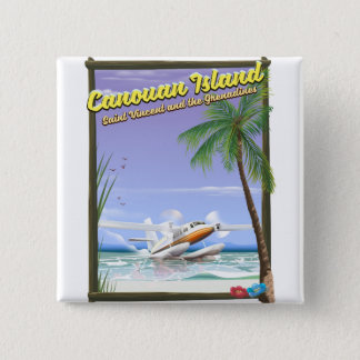 Caribbean, Canouan islands paradise poster. 15 Cm Square Badge