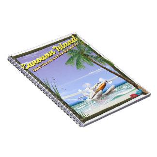 Caribbean, Canouan islands paradise poster. Spiral Notebook