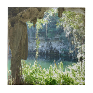 caribbean cave small square tile