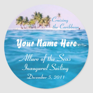 Caribbean Cruising Customizable Stickers