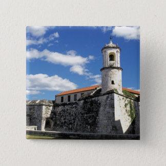Caribbean, Cuba, Havana. Old Havana, Castillo 15 Cm Square Badge