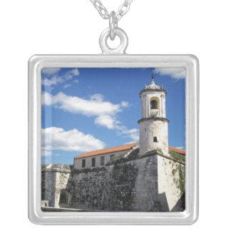 Caribbean, Cuba, Havana. Old Havana, Castillo Silver Plated Necklace