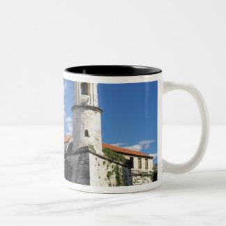 Caribbean, Cuba, Havana. Old Havana, Castillo Two-Tone Coffee Mug