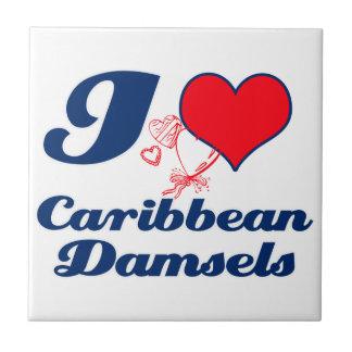 Caribbean design ceramic tile