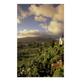 Caribbean, French West Indies, Martinique. Poster