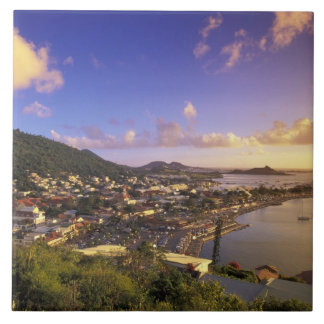 Caribbean, French West Indies, St. Martin. Large Square Tile