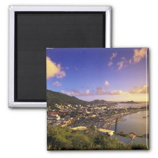 Caribbean, French West Indies, St. Martin. Refrigerator Magnet