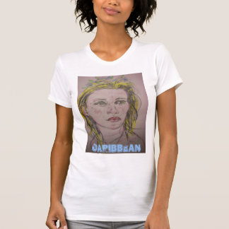 caribbean girl with flowers in her wet hair T-Shirt