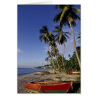 CARIBBEAN, Grenada, St. George, Boats on palm Card