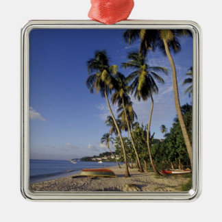 CARIBBEAN, Grenada, St. George, Boats on palm Christmas Ornament
