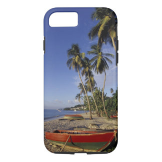 CARIBBEAN, Grenada, St. George, Boats on palm iPhone 8/7 Case