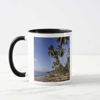 CARIBBEAN, Grenada, St. George, Boats on palm Mug