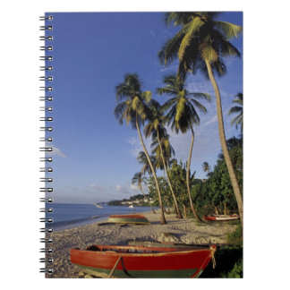 CARIBBEAN, Grenada, St. George, Boats on palm Notebooks
