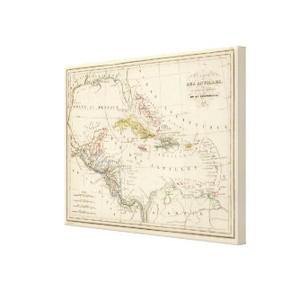 Caribbean, Gulf of Mexico and Guatemala Canvas Print