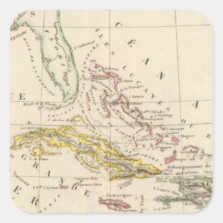 Caribbean, Gulf of Mexico and Guatemala Square Sticker