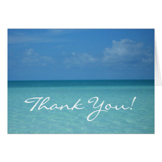 Caribbean Horizon Thank You Card