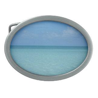 Caribbean Horizon Tropical Turquoise Blue Belt Buckle